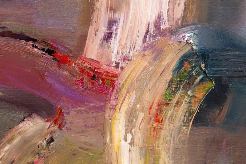 Wonderful abstract painting for new design view. stock image