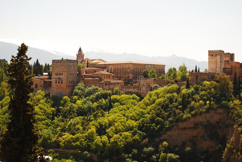 The wonderful Alhambra of Granada. Discovering the beautiful Andalusia in southern Spain stock photo