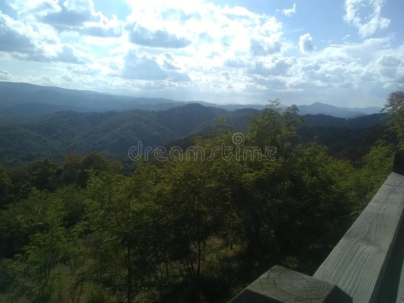 Wonderful Appalachian mountains summer afternoon royalty free stock photos