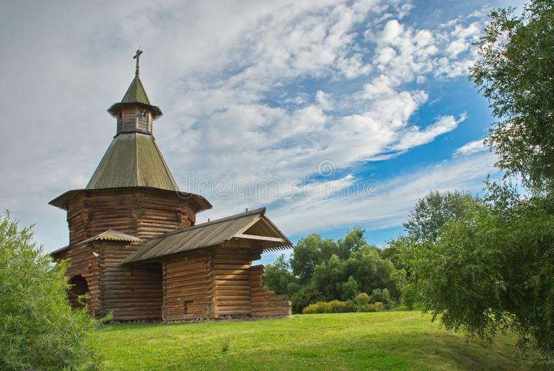 Wonderful architecture and natural beauty in the museum reserve Kolomenskoye in Moscow stock photos