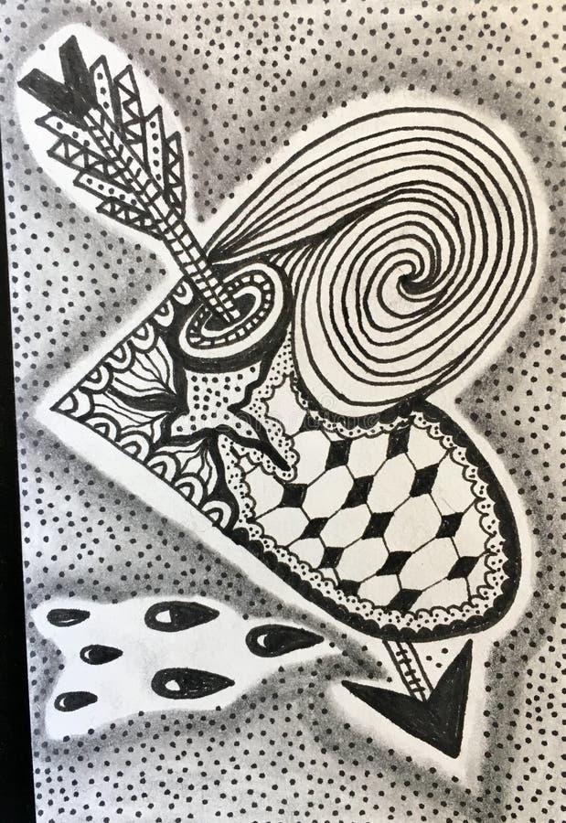 The wonderful art of Zentangle. stock image