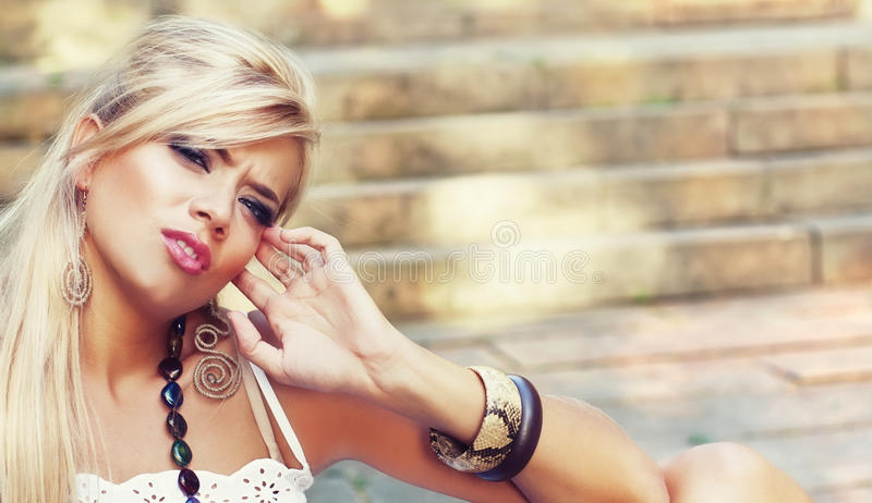 Wonderful Blond Women Stock Image
