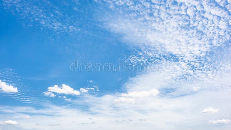 Blue sky with clouds. Wonderful blue sky with clouds for background stock image
