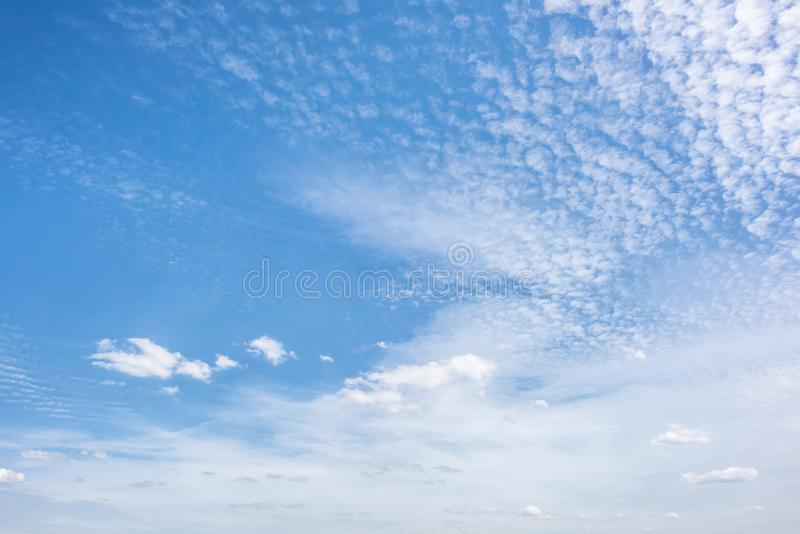 Blue sky with clouds. Wonderful blue sky with clouds for background stock photo