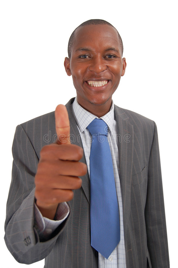 Wonderful Business. This is an image of business, happily giving the thumbs up. This represents Great work,You got the job and Your the best stock photography