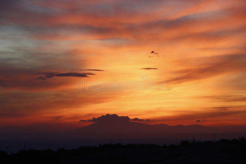Wonderful colourful sunsetwonderful colourful sunset royalty free stock image