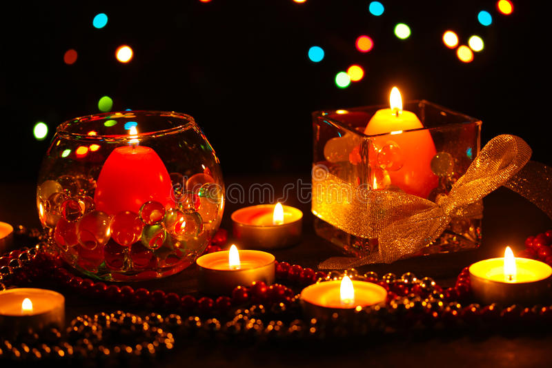 Wonderful composition of candles