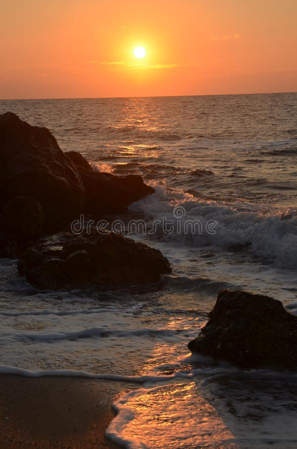 Evening at the sea royalty free stock photos