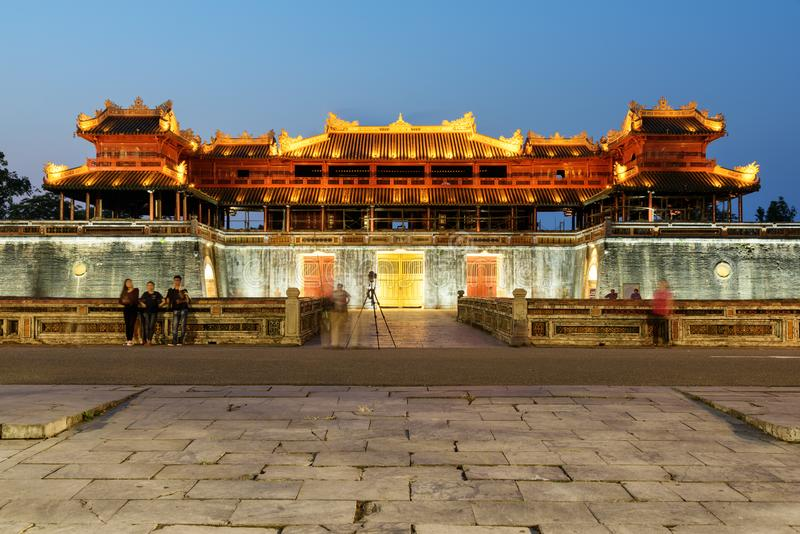 Wonderful evening view of the Meridian Gate, the Imperial City stock image