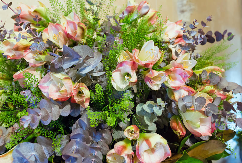 Download Wonderful Flowers Bouquet Stock Image Of Green