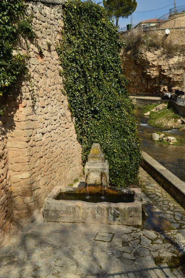 Free Wonderful Fountain Dating From The 16th Century In The Town Of Trillo. Architecture, Travel, Nature. Royalty Free Stock Images - 118718049