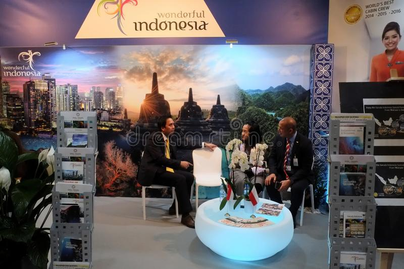 Wonderful Indonesia at TT Warsaw 2017 stock images
