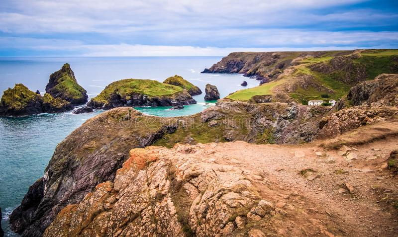 Wonderful Kynance Cove in Cornwall - a famous landmark royalty free stock image