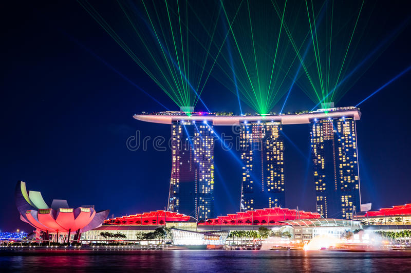 wonderful light show at singapore editorial photography image of