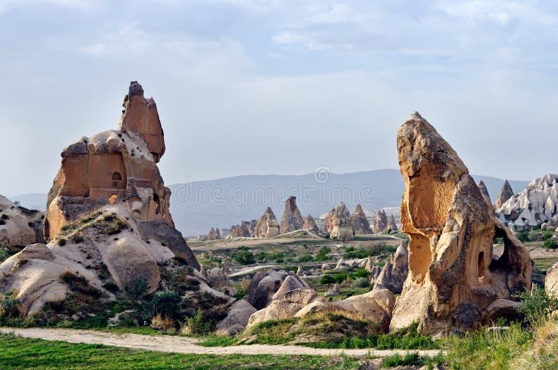 Wonderful mountain landscape in Cappadocia, Turkey royalty free stock image