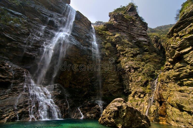 Wonderful natural waterfall. In Lushan, Jiangxi, China stock image