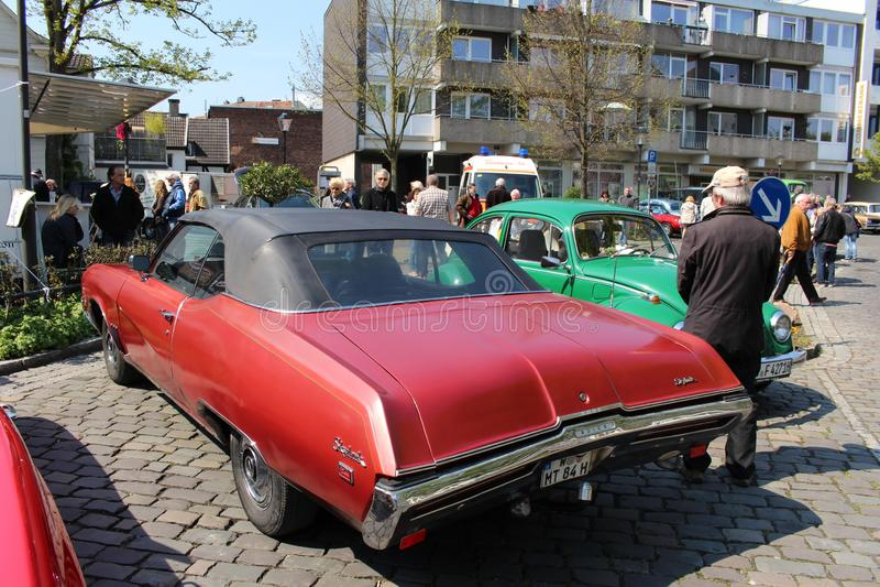 Buick Skylark oldtimer car in Kettwig, district of Essen. stock images