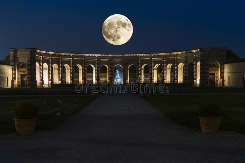 The moon and the te palace royalty free stock photo