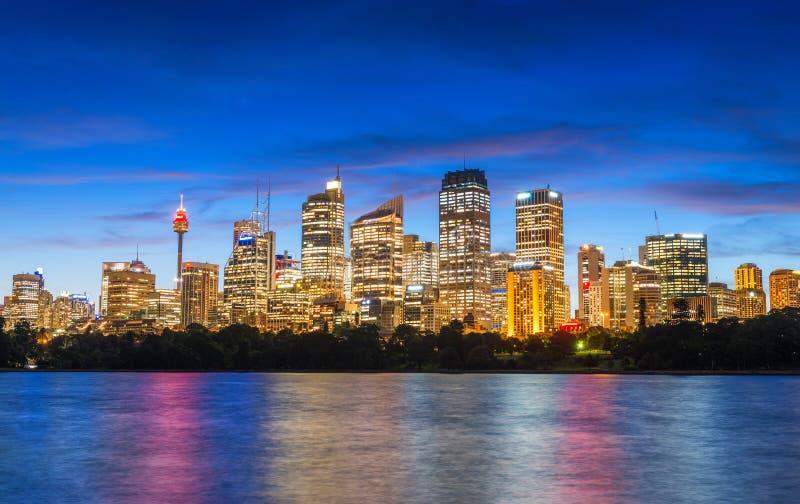 Wonderful night skyline of Sydney, Australia stock photos