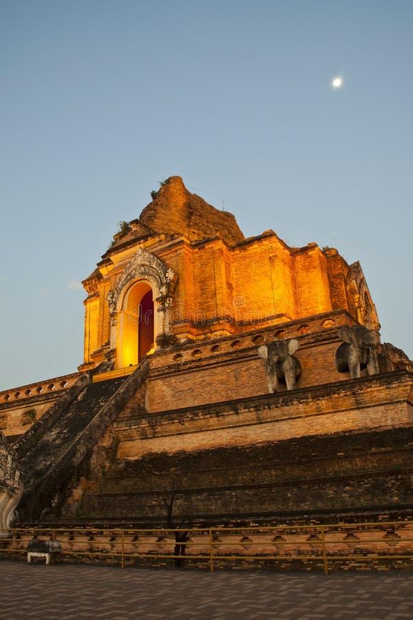 Wonderful Pagoda Wat Chedi Luang Temple Royalty Free Stock Photography