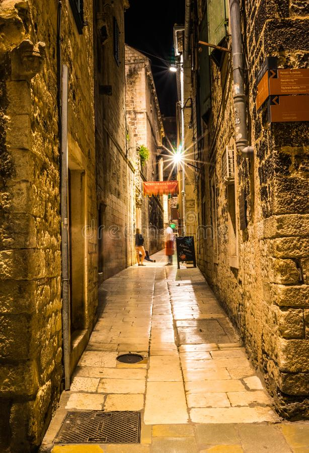 Amazing place in the old town in Split, Croatia. royalty free stock image