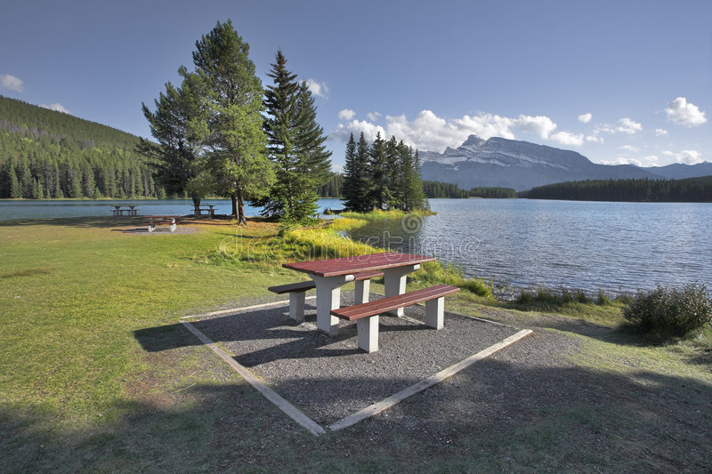 Wonderful place for picnic. stock images