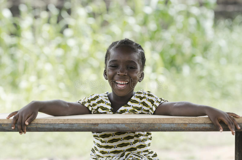 Wonderful portrait of little African girl stock images