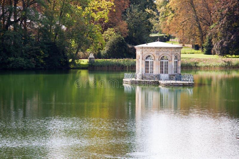 Wonderful Renascence Style Summerhouse On Lake Royalty Free Stock Photos