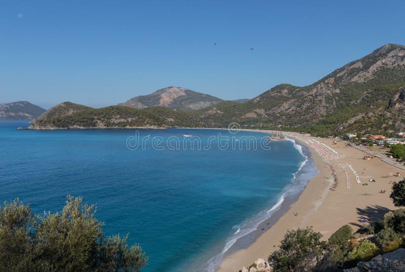 The wonderful seaside of the Ölüdeniz, Southern Turkey stock photos