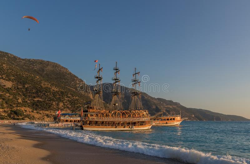 The wonderful seaside of the Ölüdeniz, Southern Turkey stock photography