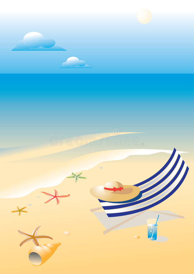 Wonderful shining beach royalty free illustration