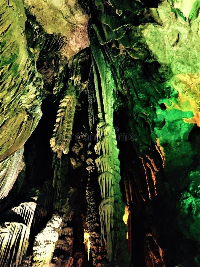 Wonderful and wonderful stalactite royalty free stock photography