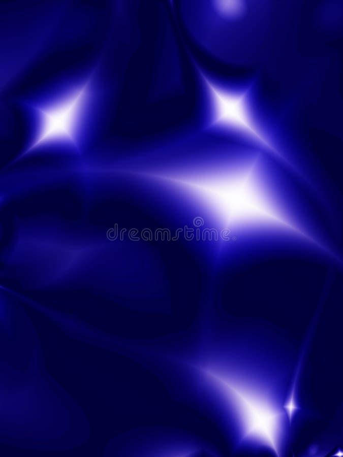Wonderful stars. On a black background stock illustration