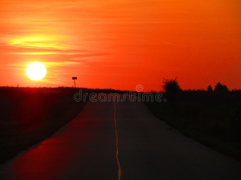 Wonderful sunset in Chelm in Poland royalty free stock image
