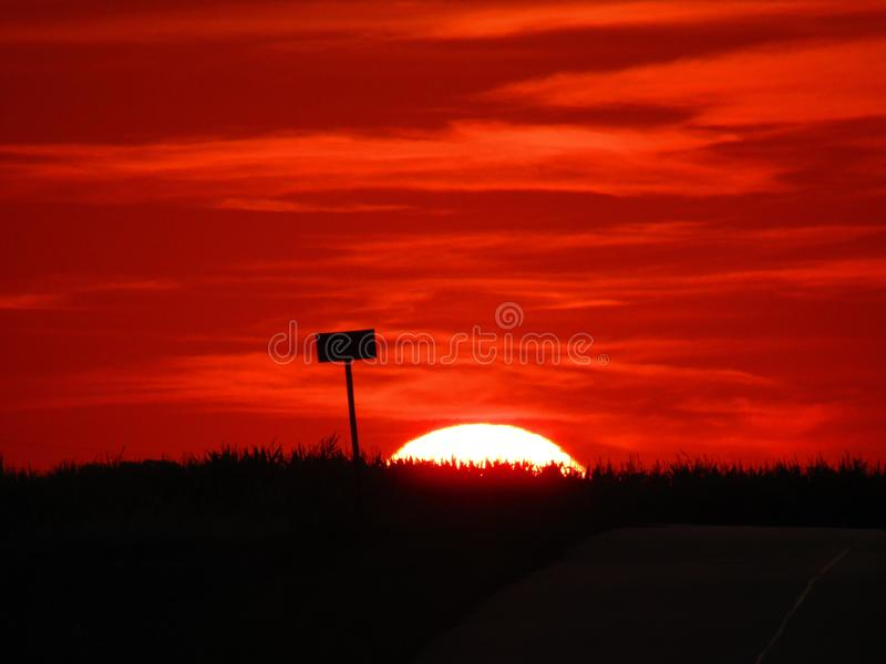 A wonderful sunset in Chelm in Poland royalty free stock photo