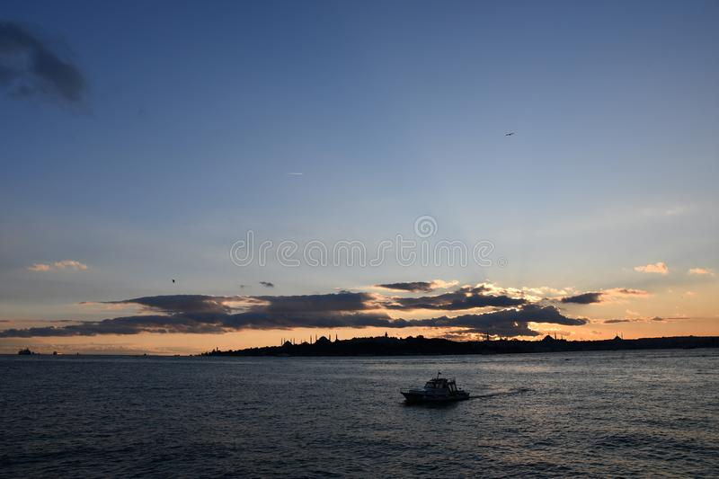 View of Istanbul sunset royalty free stock photography