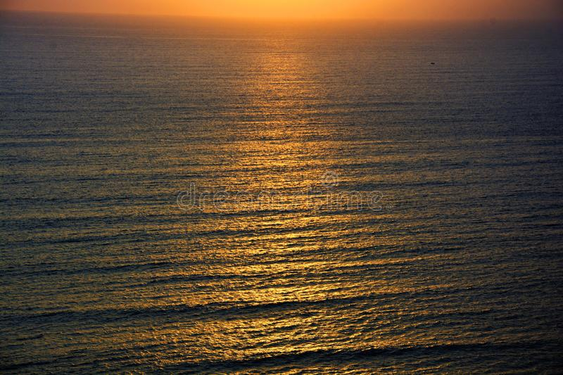 Sonset on the pacific ocean stock photos