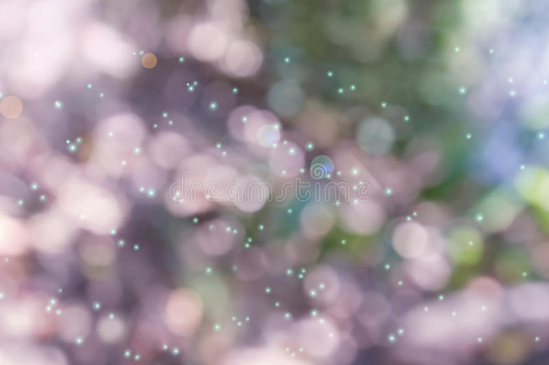 Wonderful sweet lens flare and dreamy bokeh. In fantasy mood abstract pink and pastel valentine soft background stock photography