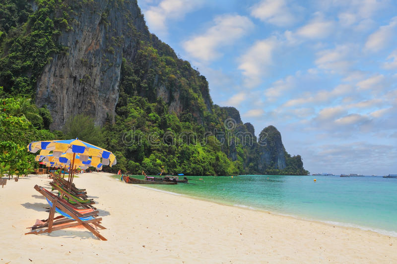 Download The Beach Umbrellas And Sun Beds Stock Photo - Image: 29932980