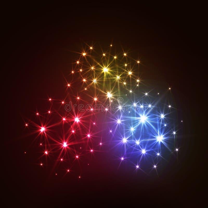 Free Wonderful Vector Fireworks Stock Image - 63600501