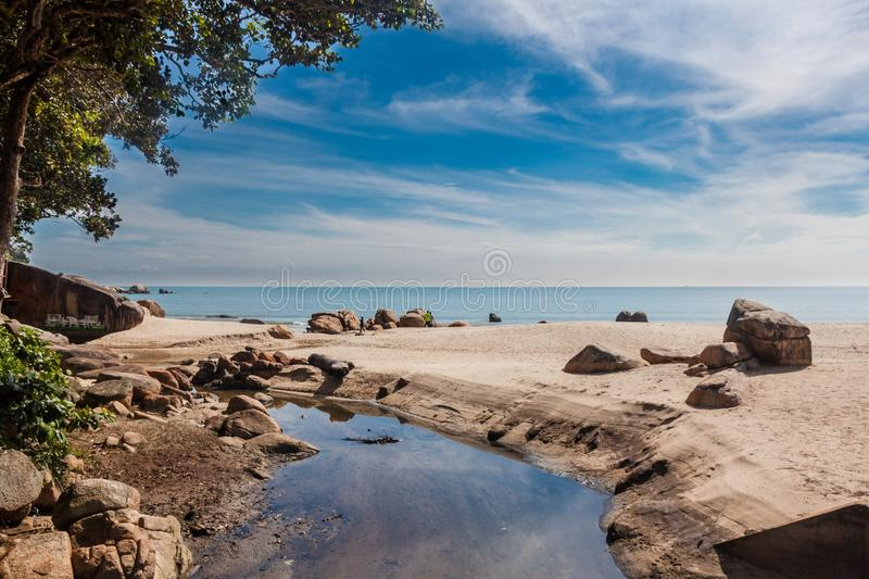 A wonderful view at the beach. royalty free stock photography