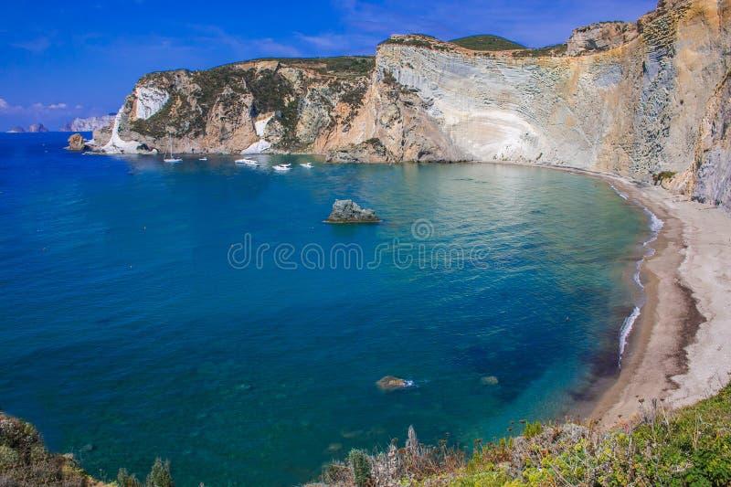 Wonderful view of Chiaia di Luna beach in the Ponza island, Lazio, Italy stock photo