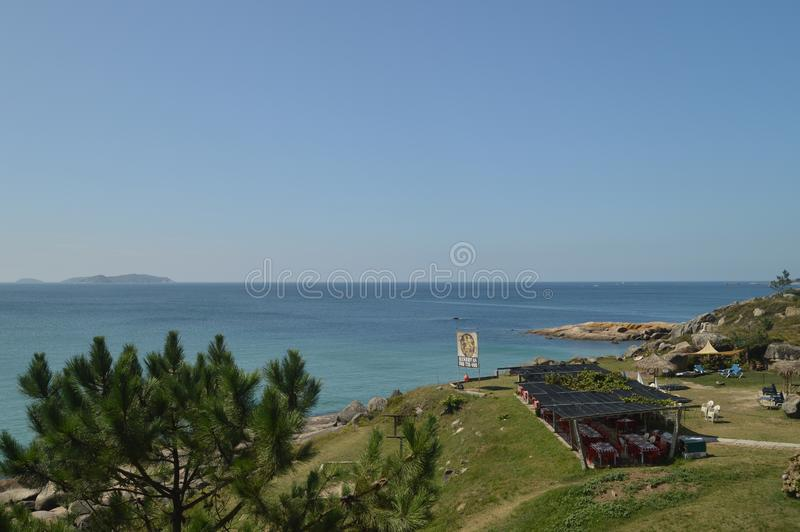 Wonderful Views From The Fort Of The Hermitage At La Lanzada In Noalla. Nature, Architecture, History, Travel. August 19, 2014. Noalla, Pontevedra, Galicia royalty free stock images