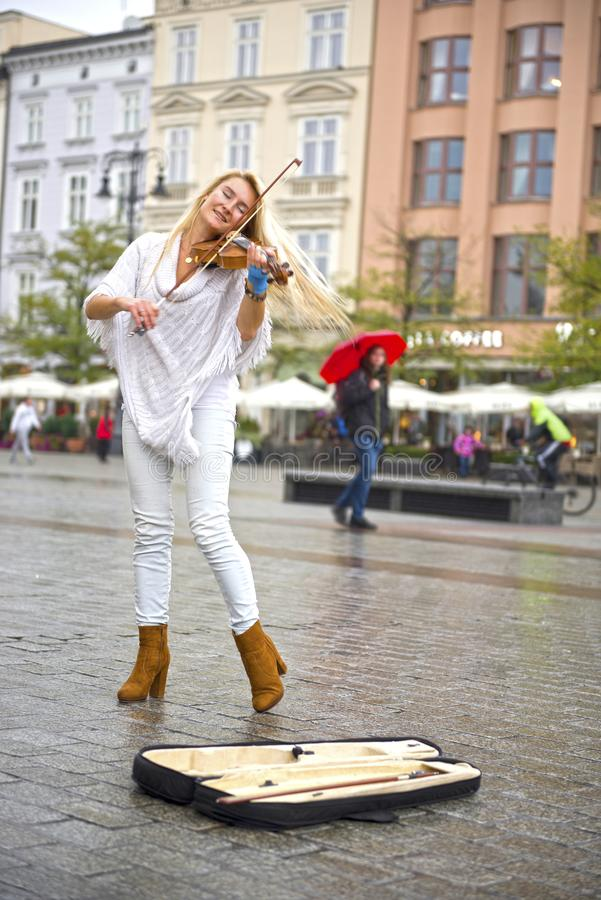 Wonderful voice and dance on the Market Square royalty free stock photography