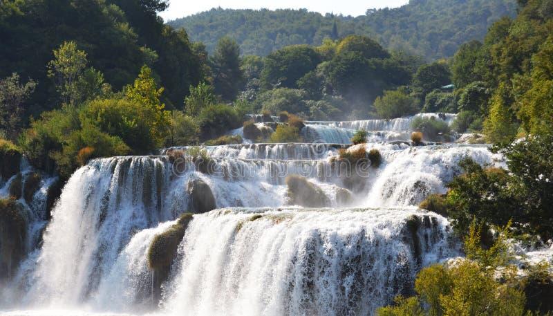Wonderful Waterfalls of Krka Sibenik, Croatia. Wonderful Waterfalls of Krka National Park in Sibenik, Croatia royalty free stock photography