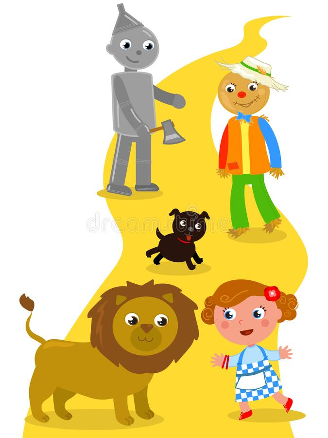 The wonderful wizard of Oz 04 the Lion stock illustration