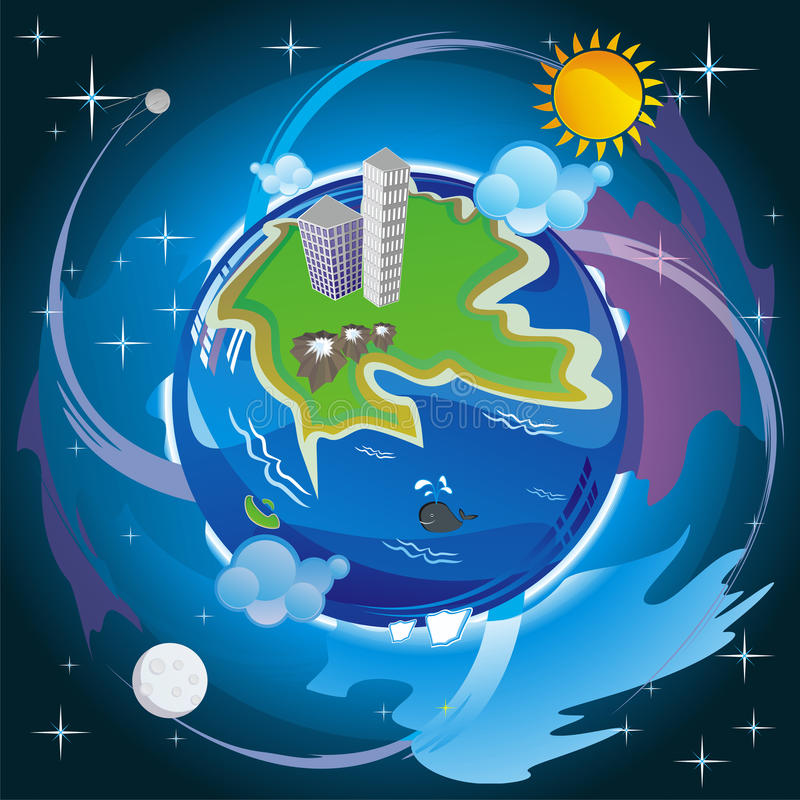 Download Wonderful world stock illustration. Image of horizon - 20334225