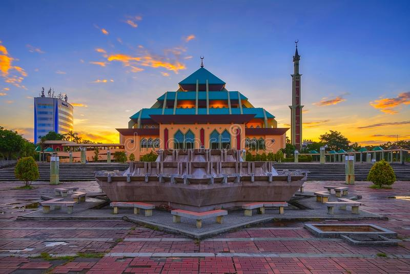 Wonderfull Indonesia de la isla de Batam de la puesta del sol imagen de archivo libre de regalías