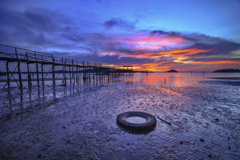 Wonderfull Indonesien för solnedgång Moment12 Batam Bintan royaltyfri bild