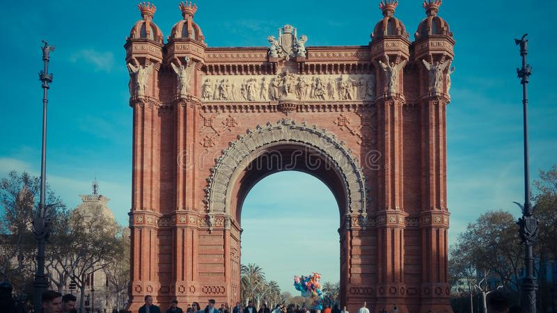 Wonderfull monument in Spain located at the northern end of the stock photography